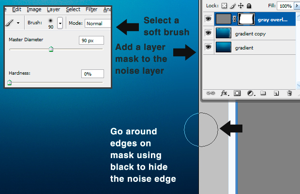 basefinished How To Correct Banding In Your Gradients Using Photoshop
