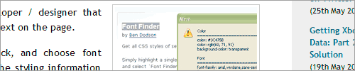 fontfinder 27 Firefox Addons For Power Blogging