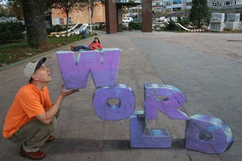 15 Awesome Chalk Artworks by Julian Beever and Kurt Wenner