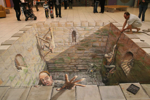 08 15 Awesome Chalk Illustrations by Julian Beever and Kurt Wenner