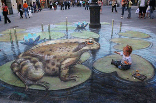 11 15 Awesome Chalk Illustrations by Julian Beever and Kurt Wenner