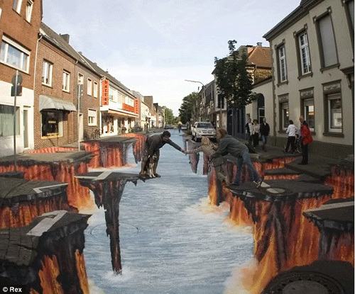 last 15 Awesome Chalk Illustrations by Julian Beever and Kurt Wenner