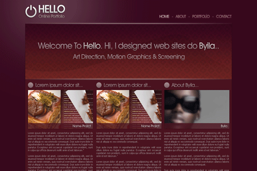 hello 40 Free PSD Website Templates
