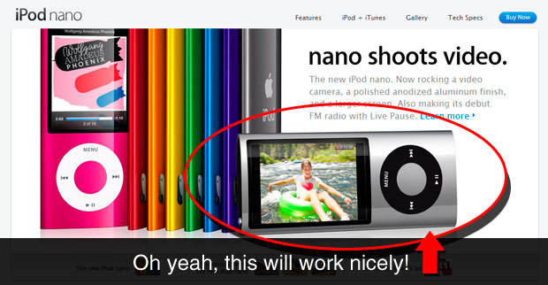 1 ipodscreenshot Create A Realistic Video iPod Nano In Photoshop