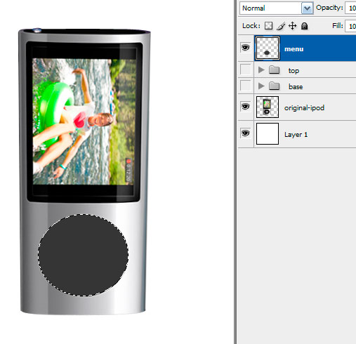 10 menu Create A Realistic Video iPod Nano In Photoshop