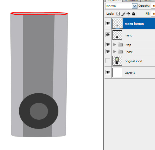 11 menubutton Create A Realistic Video iPod Nano In Photoshop