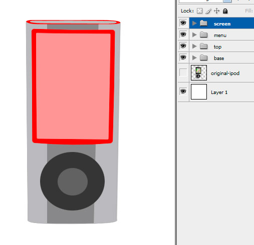 14 innerscreen Create A Realistic Video iPod Nano In Photoshop