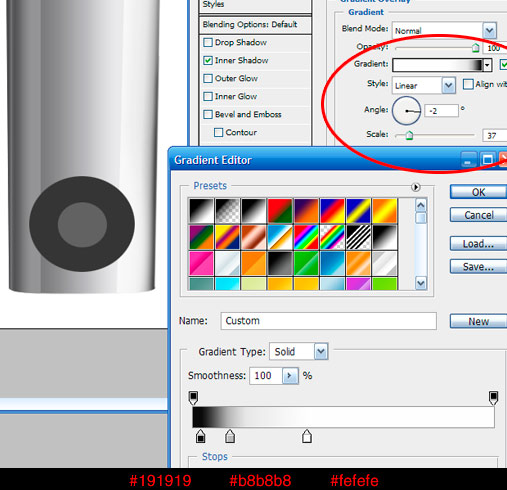18 rightgrad Create A Realistic Video iPod Nano In Photoshop