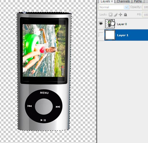 3 ipodselect Create A Realistic Video iPod Nano In Photoshop