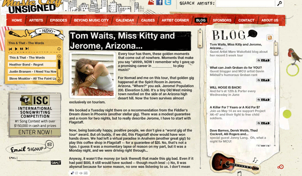 musiccityunsigned 13 Creative and Beautiful Blog Designs