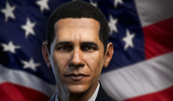 obama 16 Realistic Character Design Illustrations