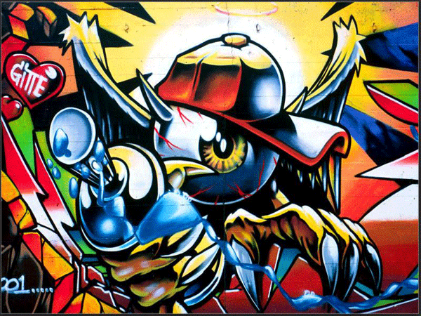 wallpaper1 24 Inspiring Graffiti Designs