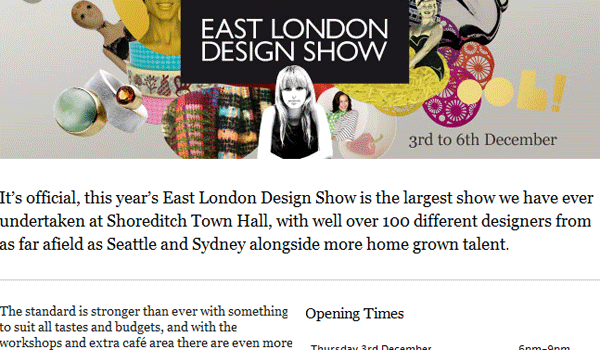 eastlondondesignshow 15 Clean And Effective Email / Newsletter Designs