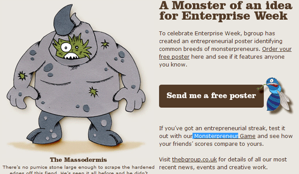 monsterpreneur 15 Clean And Effective Email / Newsletter Designs
