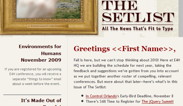 thesetlist 15 Clean And Effective Email / Newsletter Designs