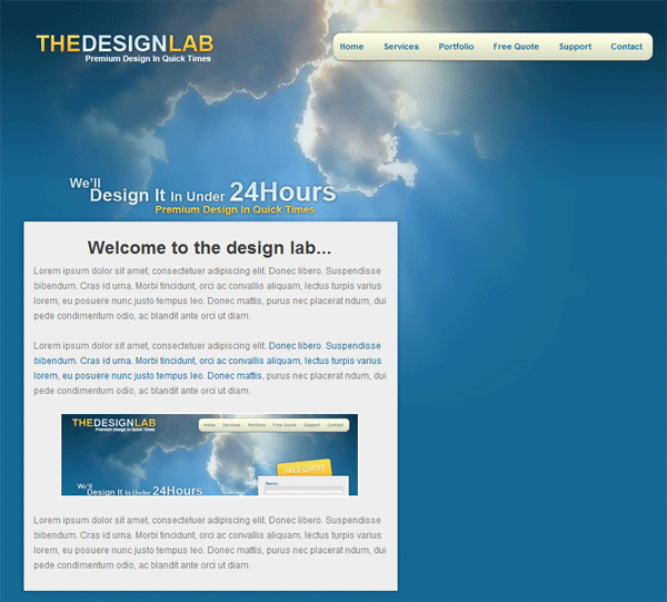 The Design Lab: PSD Conversion