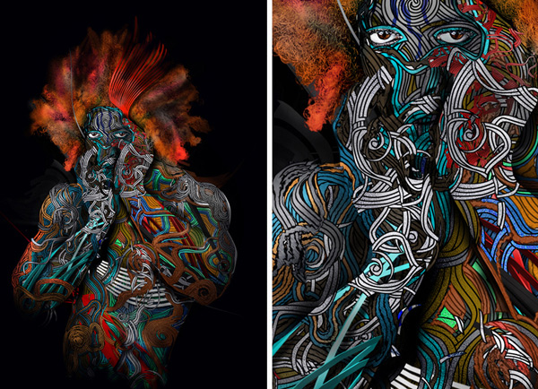 tribal 15 Amazing Digital Illustrations by Vincent Fraser   I.D. 18