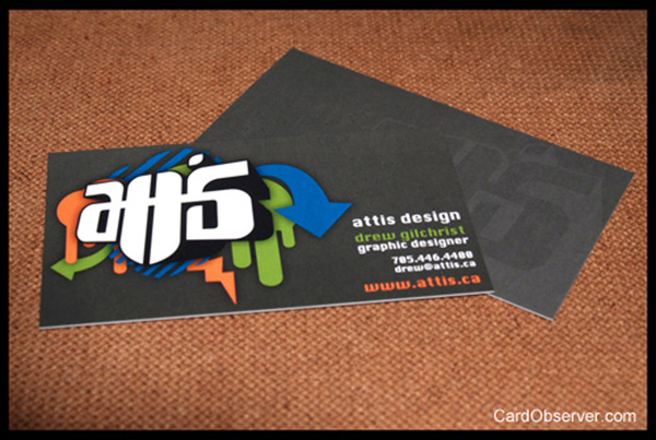 attis design business card 50 Business Cards Designs That Break The Mold