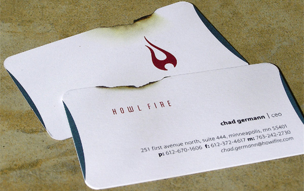 howl fire 50 Business Cards Designs That Break The Mold