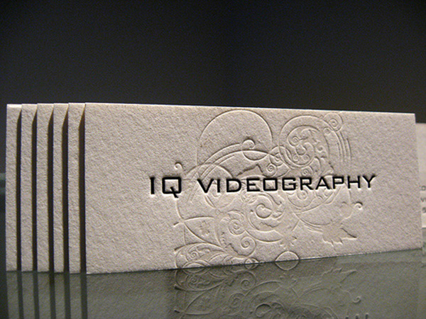 iq videography 50 Business Cards Designs That Break The Mold