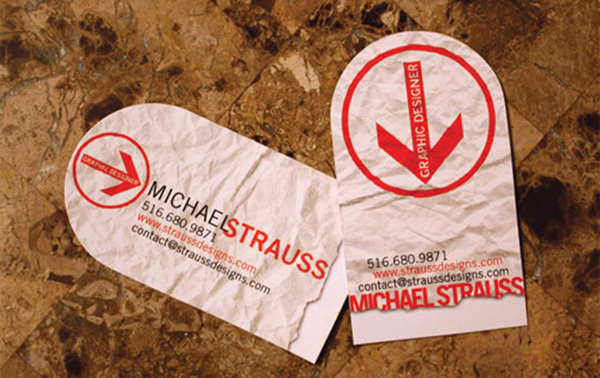 michael strauss 50 Business Cards Designs That Break The Mold