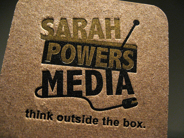 sarah powers media 50 Business Cards Designs That Break The Mold