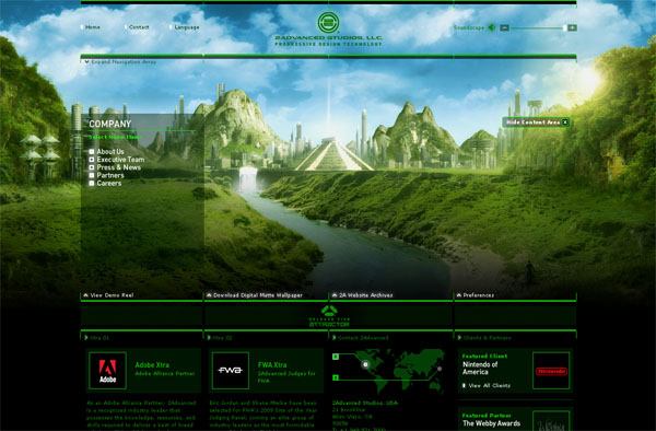 2advanced 1 30 Amazing Business Flash Websites