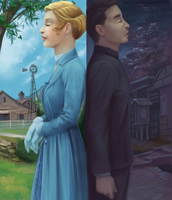 Dreamless Cover 2 Graphic Novel Paintings by Sarah Ellerton   I.D. 25