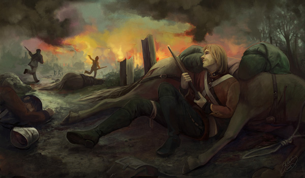Losing the Battle Graphic Novel Paintings by Sarah Ellerton   I.D. 25