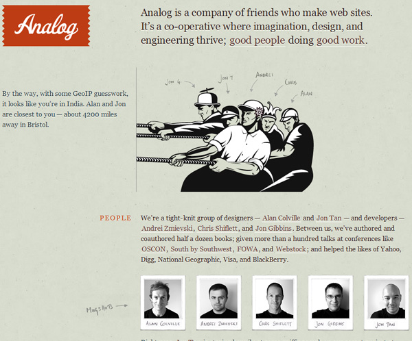 analog 20 Awesome Examples Of Single Page Web Design