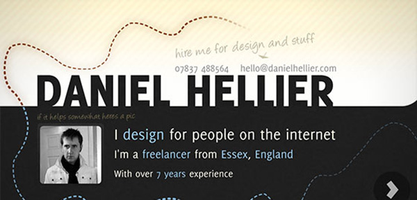 danielhellier 20 Awesome Examples Of Single Page Web Design