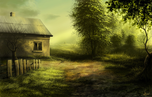 damned house by VityaR83 Breathtaking Traditional Digital Paintings by Vitalik   I.D. 23