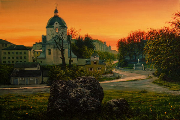 evening town by VityaR83 Breathtaking Traditional Digital Paintings by Vitalik   I.D. 23
