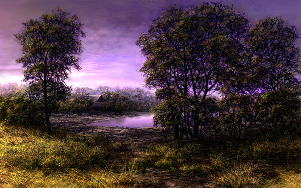 lake by VityaR83 Breathtaking Traditional Digital Paintings by Vitalik   I.D. 23