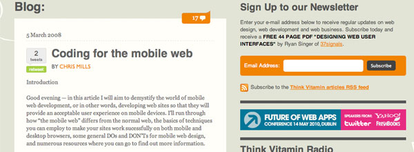 Coding for the Mobile Web