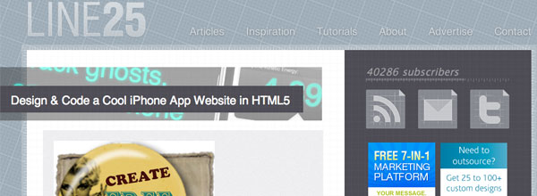 Design and Code a Cool iPhone App Website in HTML5
