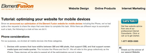 Optimizing Your Website for Mobile Devices