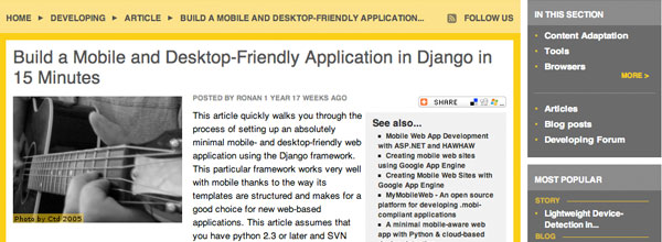 Build a Mobile and Desktop-Friendly Application in Django in 15 Minutes