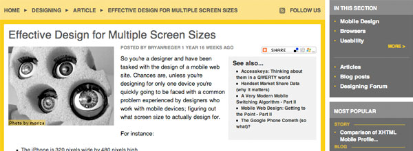 Effective Design for Multiple Screen Sizes