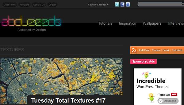 abduzeedo 50 Sites For Discovering Free Textures