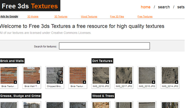free3dstextures 50 Sites For Discovering Free Textures