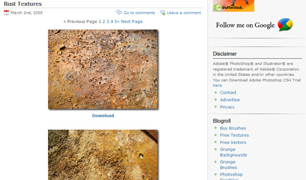 freephotoshop 50 Sites For Discovering Free Textures