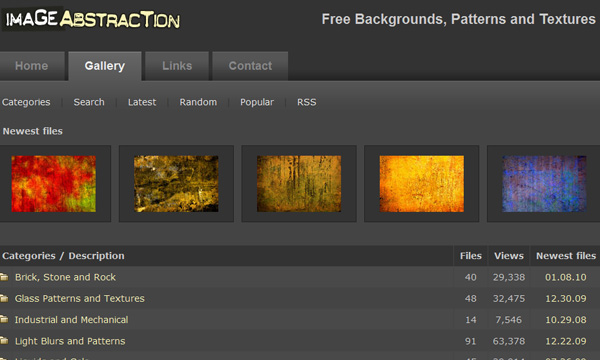 imageabstraction 50 Sites For Discovering Free Textures