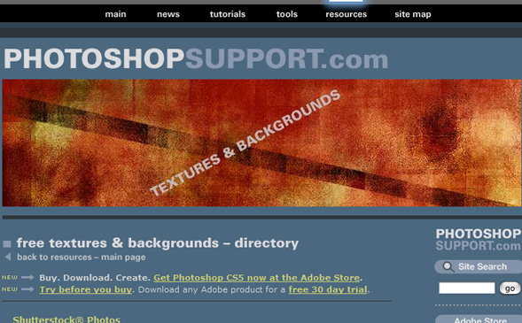 photoshopsupport 50 Sites For Discovering Free Textures