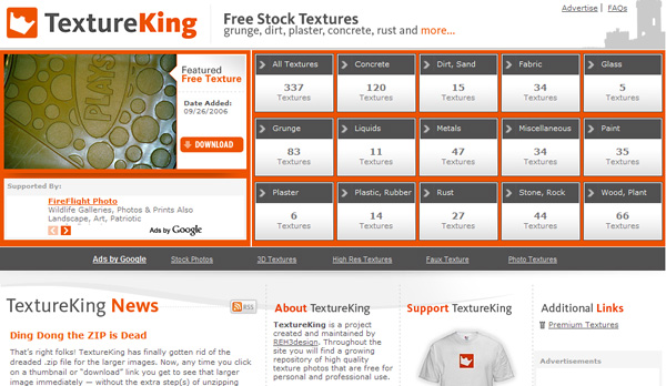 textureking 50 Sites For Discovering Free Textures