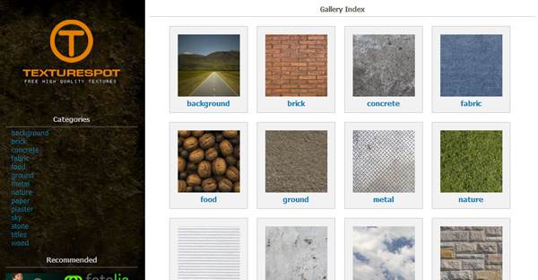 texturespot 50 Sites For Discovering Free Textures