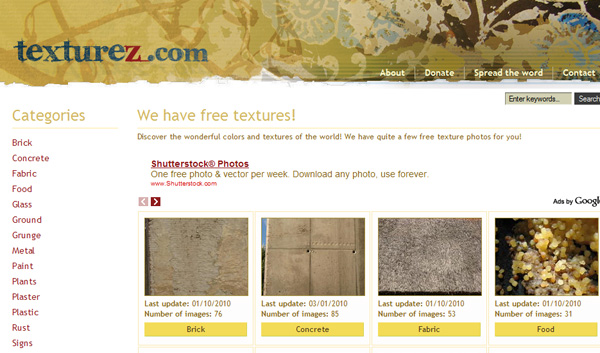 texturez 50 Sites For Discovering Free Textures