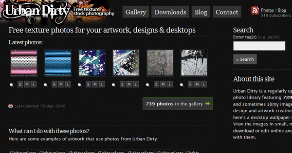 urbandirty 50 Sites For Discovering Free Textures