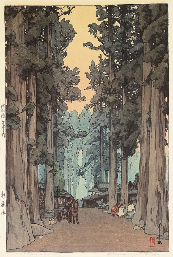 beautiful wood-block prints by hiroshi yoshida 9