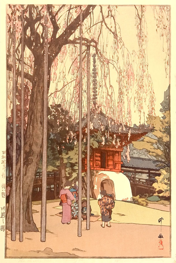 beautiful wood-block prints by hiroshi yoshida 45